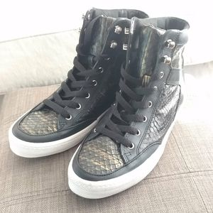 Rebecca Minkoff Black Gold Hi-top Sneaker NWOT